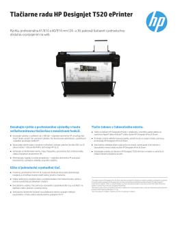 Tlačiarne radu HP Designjet T520 ePrinter