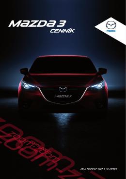 cenník Mazda3