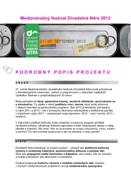 Projekt Divadelná Nitra 2012