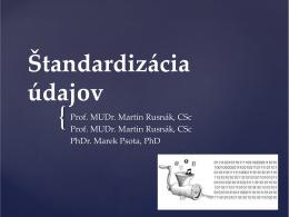 Štandardizácia údajov