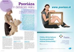 Psoriáza - psoriaza.sk