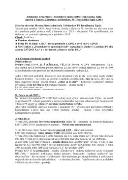 Správa predsedu výboru Združenia urbárnikov PS