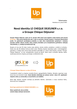 Nová identita LE CHEQUE DEJEUNER s.r.o. a Groupe Chčque