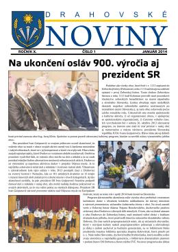 Zobraziť Drahovské noviny 1/2014