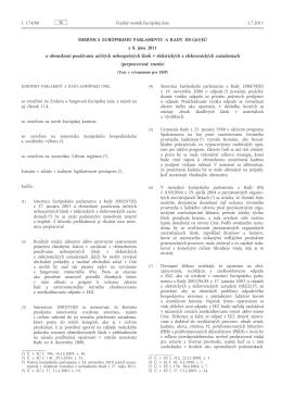 Smernica Európskeho parlamentu a Rady 2011/65/EÚ z 8