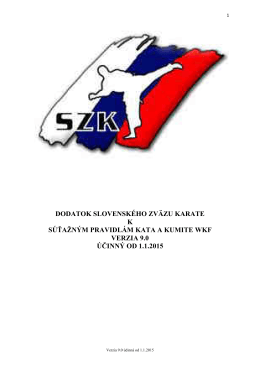Dodatok SZK k pravidlám WKF