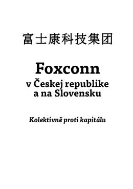 Foxconn v Českej republike a na Slovensku