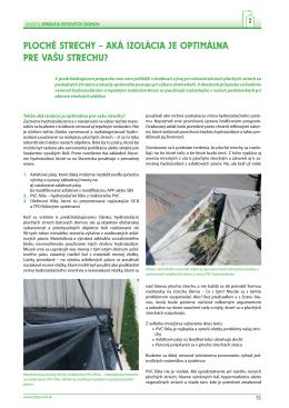 ploché strechy – aká izolácia je optimálna pre vašu strechu?