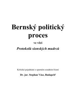 Bernský politický proces ve věci Protokolů sionských mudrců