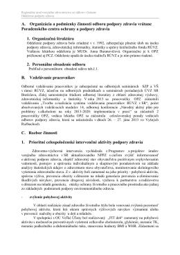Podpora zdravia [PDF, 662KB] - Regionálny úrad verejného