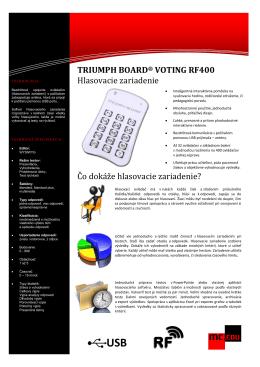 TRIUMPH BOARD® VOTING RF400 Hlasovacie zariadenie Čo
