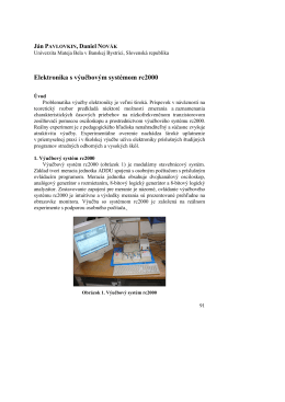 Elektronika s výučbovým systémom rc2000