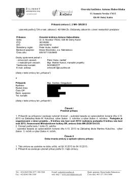 Príkazná zmluva - Oravská knižnica Antona Habovštiaka