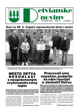 Detvianske noviny 11/2014