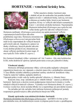 HORTENZIE - Centrum rozvoja záhradníctva, spol. s ro
