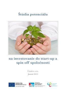 Štúdia potenciálu na investovanie do start