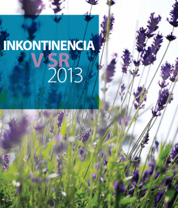 Inkontinencia v SR 2013