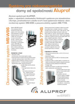 Systémy pre nízkoenergetické domy od spoločnosti