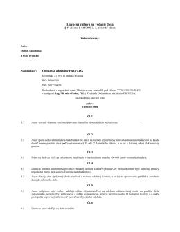Licenčná zmluva na vydanie diela