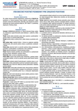 VPP 1000-3 - Komunálna poisťovňa