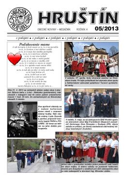Máj 2013 - Obec Hruštín