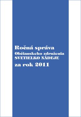 Ročná správa za rok 2011