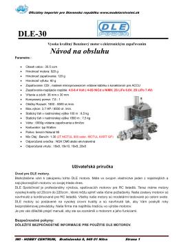 Manual DLE30 SK