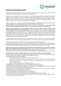 podmienky predĺženej záruky v pdf formáte