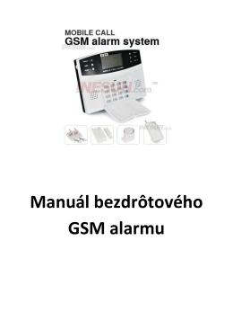 Manuál bezdrôtového GSM alarmu