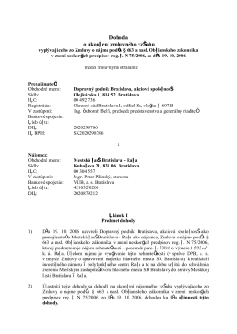 Dohoda o ukončení zmluvného vzťahu