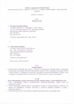Zmluva o spracúvavaní osobných údajov