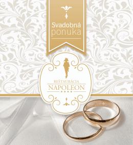 Svadobná brožura - Hotel Bonaparte