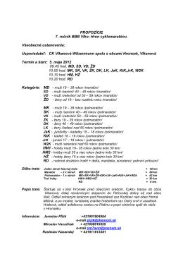 (Propozície BB 2012) - BBB VLKO-HRON