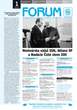 Forum 1.cdr - Slovenský syndikát novinárov