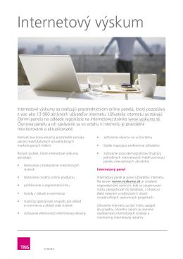Internetový výskum - produktový list