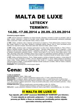 MALTA DE LUXE