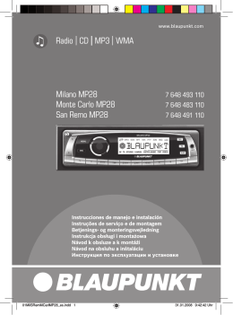 Radio CD MP3 WMA Milano MP28 Monte Carlo MP28
