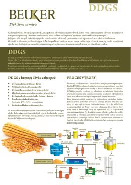 DDGS v kŕmnej dávke zabezpečí PROCES VÝROBY