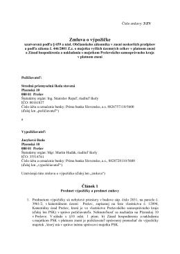 Zmluva o výpožičke - Jazyková Škola Prešov