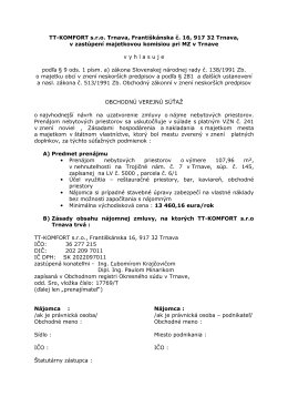 TT-KOMFORT sro Trnava, Františkánska č. 16, 917 32 - tt