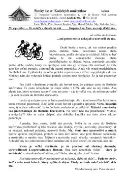 28. September 2014 - Farnosť sv. košických mučeníkov