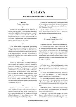 ústava - Reformata.sk