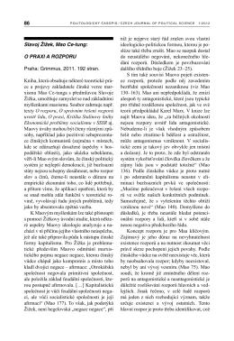zde - Politologický časopis