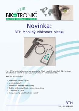 BTH mobilný vlhkomer pre piesky a voľne sypané materiály