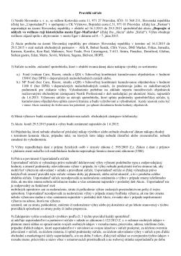 Pravidlá súťaže 1) Nestlé Slovensko s. r. o., so sídlom Košovská