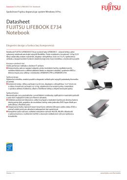 Datasheet FUJITSU LIFEBOOK E734 Notebook - Fujitsu