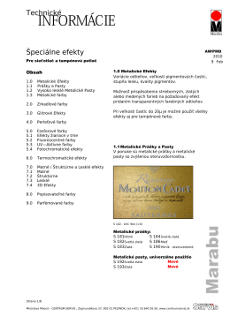 Metalické Efekty - CENTRUM SERVIS sro