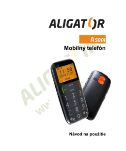 Mobilnê telefón - ALIGATOR | ADART COMPUTERS sro