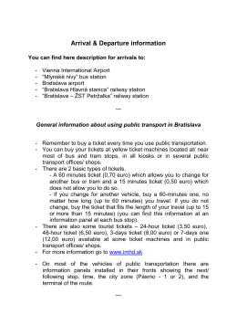 Arrival & Departure information