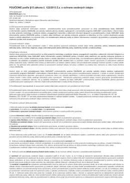 poučenie - MEDATRON spol. s ro